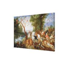 The Animals entering Noah's Ark Canvas Print