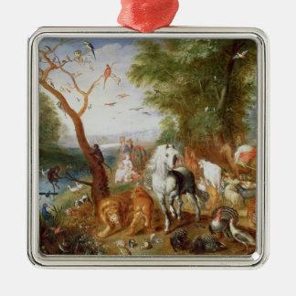 The Animals entering Noah's Ark Metal Ornament