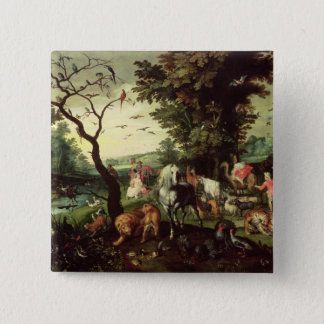 The Animals Entering Noah's Ark Pinback Button