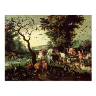 The Animals Entering Noah's Ark Postcard