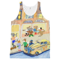 The Animals Night On The Town All-Over-Print Tank Top