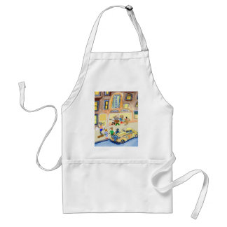 The Animals Night Out Adult Apron