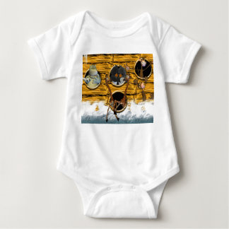 The Animals Went in Two By Two, Birthday Card Noah Baby Bodysuit