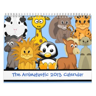 The Animatastic 2013 Cartoon Animal Calendar