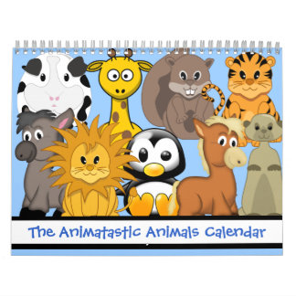 The Animatastic Cartoon Animals Calendar