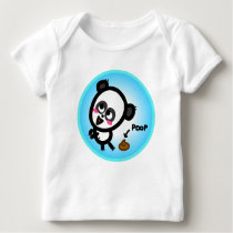 The Animated Baby - Panda Poop. Baby T-Shirt