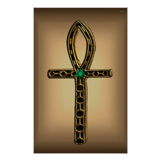 The Ankh (gold) Poster