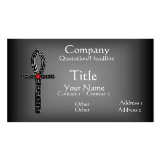 The Ankh Silver Business Card