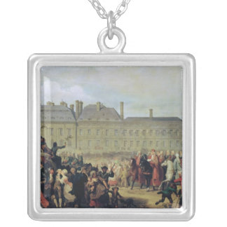 The Announcement of the signing of the Treaty Silver Plated Necklace