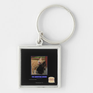 The Annoying Drunk Silver-Colored Square Keychain