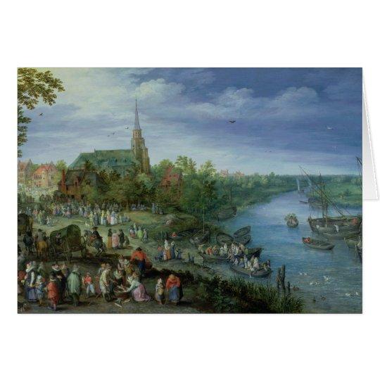 The Annual Parish Fair in Schelle, 1614 Card