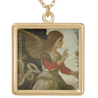 The Annunciating Angel Gabriel Gold Plated Necklace