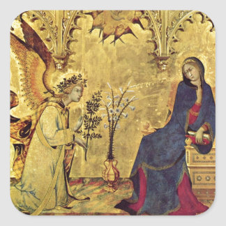 The Annunciation 13th century Square Sticker