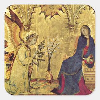 The Annunciation 13th century Square Sticker