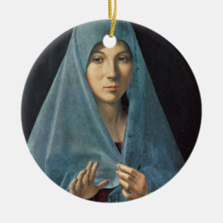 The Annunciation, 1474-75 (oil on panel) Christmas Ornaments