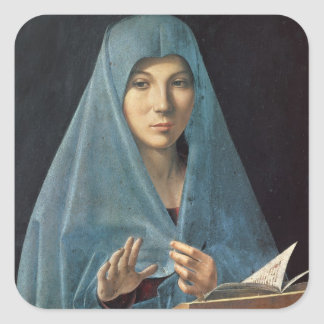 The Annunciation, 1474-75 (oil on panel) Square Sticker