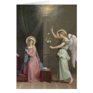 The Annunciation, 1859 Greeting Card