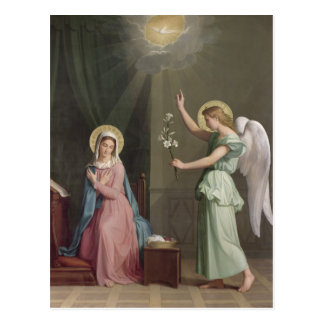 The Annunciation, 1859 Postcard