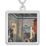 The Annunciation 2 Square Pendant Necklace
