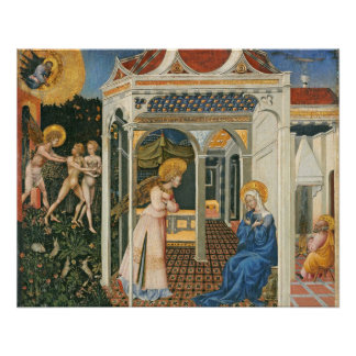 The Annunciation and Expulsion from Paradise Perfect Poster