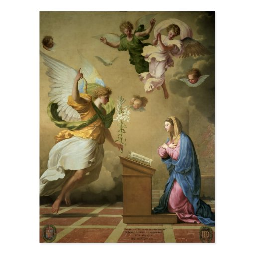 The Annunciation, before 1652 Postcard