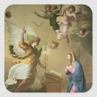 The Annunciation, before 1652 Square Sticker