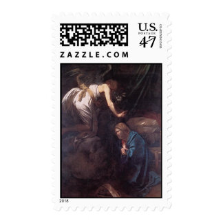 The Annunciation by Caravaggio Postage