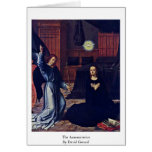 The Annunciation By David Gerard Greeting Card