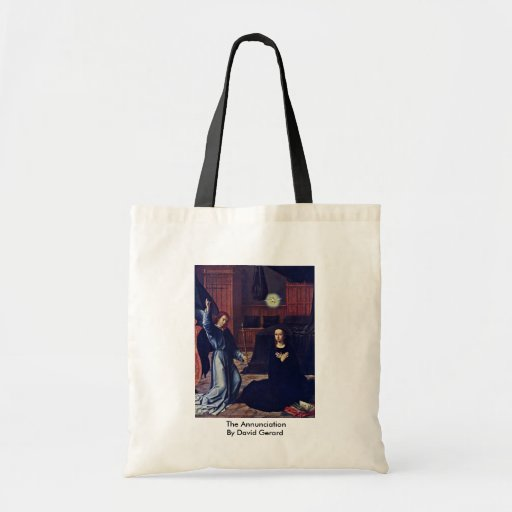 The Annunciation By David Gerard Tote Bags