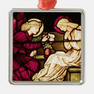 The Annunciation by Edward Burne-Jones Metal Ornament