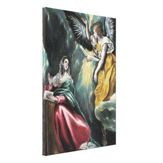 The Annunciation by El Greco Canvas Print