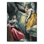 The Annunciation by El Greco Postcard