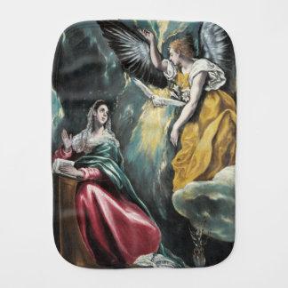 The Annunciation by El Greco Baby Burp Cloth