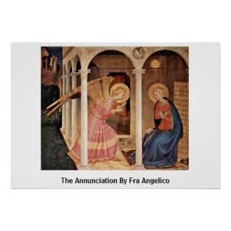 The Annunciation By Fra Angelico Poster