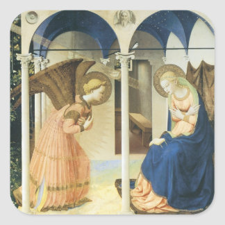 The Annunciation by Fra Angelico Square Sticker