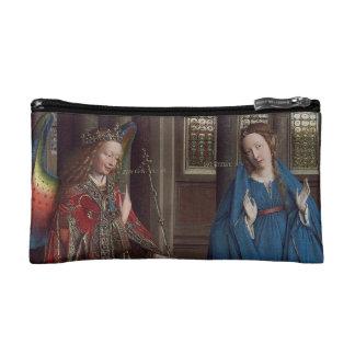 The Annunciation by Jan van Eyck Cosmetic Bag