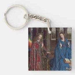 The Annunciation by Jan van Eyck Keychain
