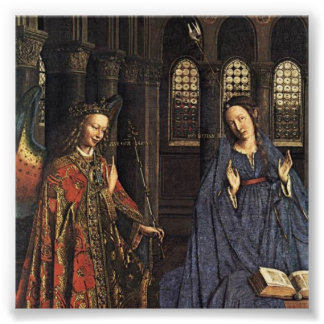 The Annunciation by Jan van Eyck Photo Print
