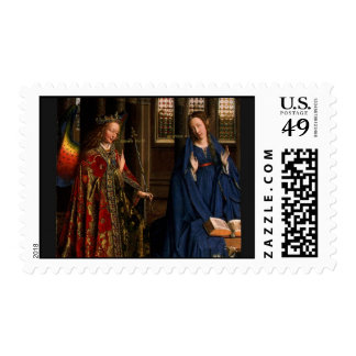 The Annunciation by Jan Van Eyck Postage