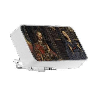 The Annunciation by Jan van Eyck Laptop Speakers