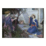 The Annunciation by JW Waterhouse, Vintage Art Greeting Cards
