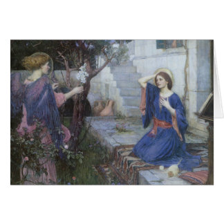 The Annunciation by JW Waterhouse, Vintage Art Greeting Card