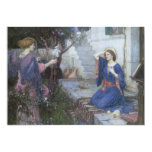 The Annunciation by JW Waterhouse, Vintage Art Invite