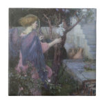 The Annunciation by JW Waterhouse, Vintage Art Ceramic Tile