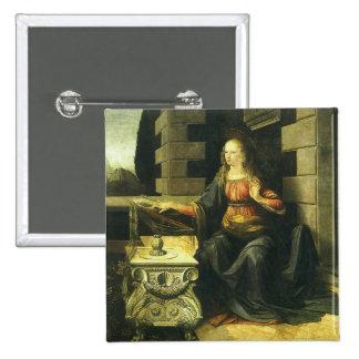 The Annunciation by Leonardo da Vinci Pinback Button