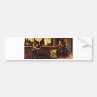 The Annunciation by Leonardo Da Vinci c. 1472-1475 Car Bumper Sticker