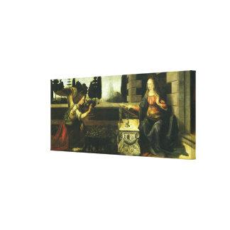 The Annunciation by Leonardo da Vinci Gallery Wrapped Canvas