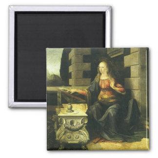 The Annunciation by Leonardo da Vinci Magnet