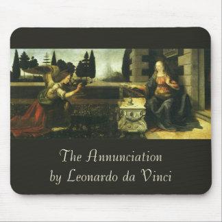 The Annunciation by Leonardo da Vinci Mouse Pad