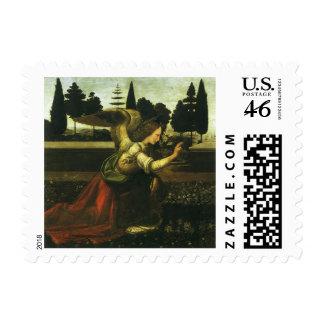 The Annunciation by Leonardo da Vinci Postage
